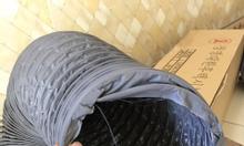 Ống gió mềm vải, ống gió mềm có lõi thép màu ghi giá rẻ.