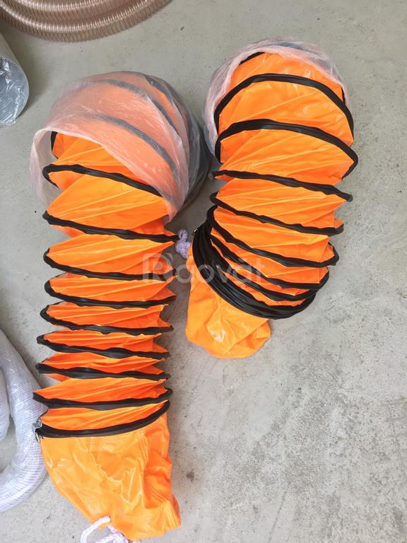 Ống gió vải bạt simili màu cam d200, d250, d300, d350