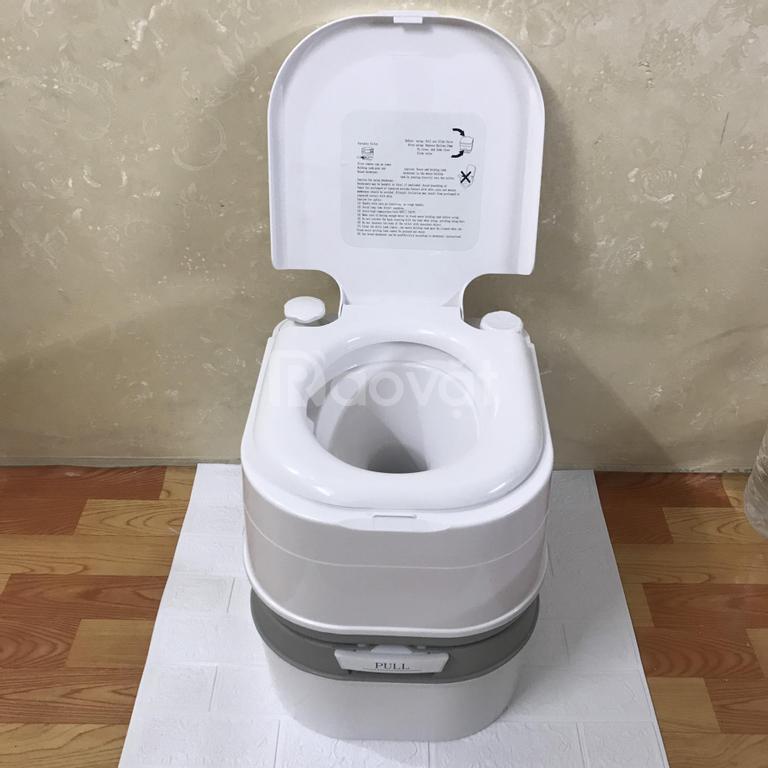 Bồn vệ sinh di động dã ngoại, bồn cầu vệ sinh dã ngoại ngoài trời 24L