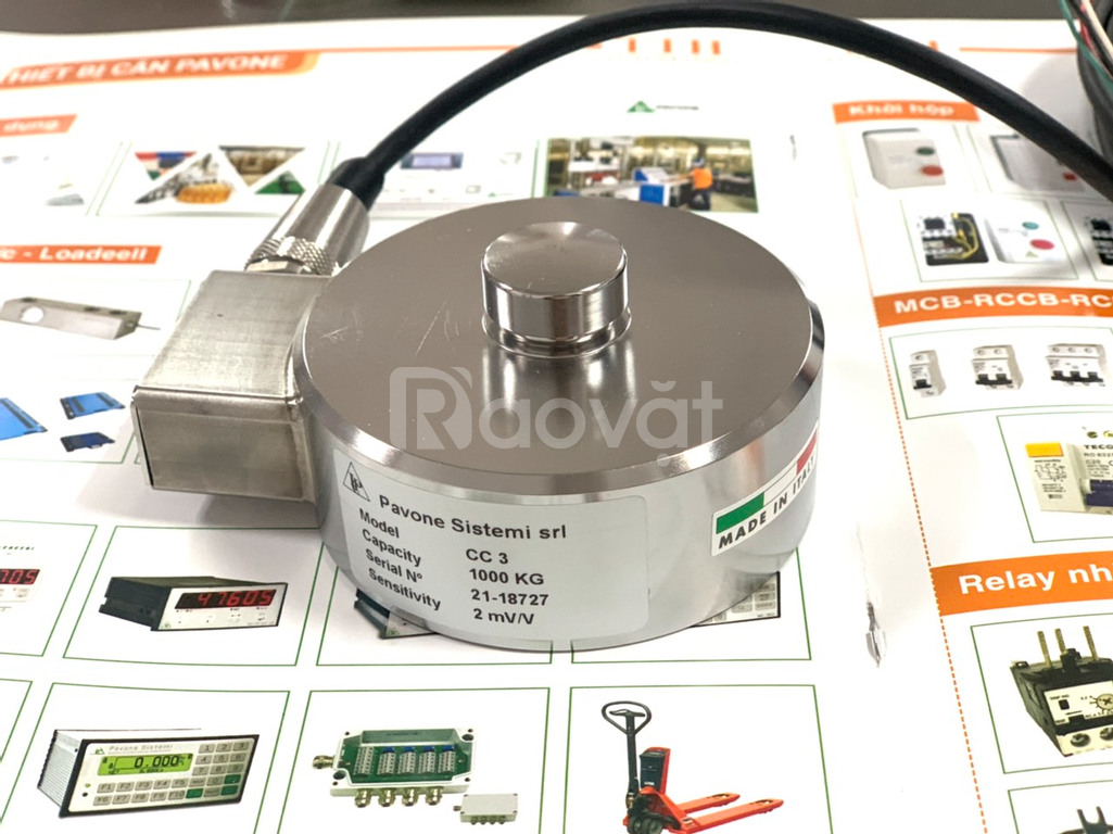 Load cell Pavone CC3-1tf sản xuất tại Italia