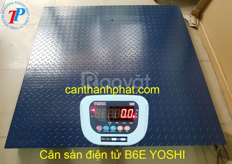 Cân sàn điện tử 2 tấn B6E kích thước sàn 1,2m x 1,2m