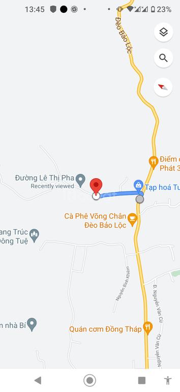 Đất thị trấn, chân đèo Tp.bảo Lộc, 2800M2, 23 X 121, 500m ra Ql 20