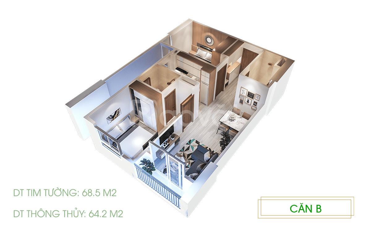 Bán căn hộ Ecolife Riverisde 65m2 2PN, nhận nhà ngay