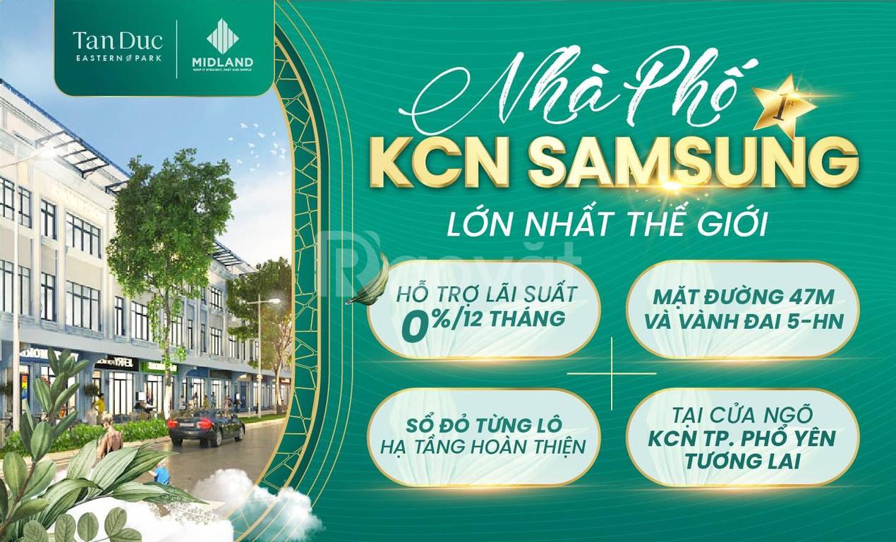Đất nền KCN Sam Sung Thái Nguyên, 2 mặt đường lớn vành đai 5 HN, LS 0%
