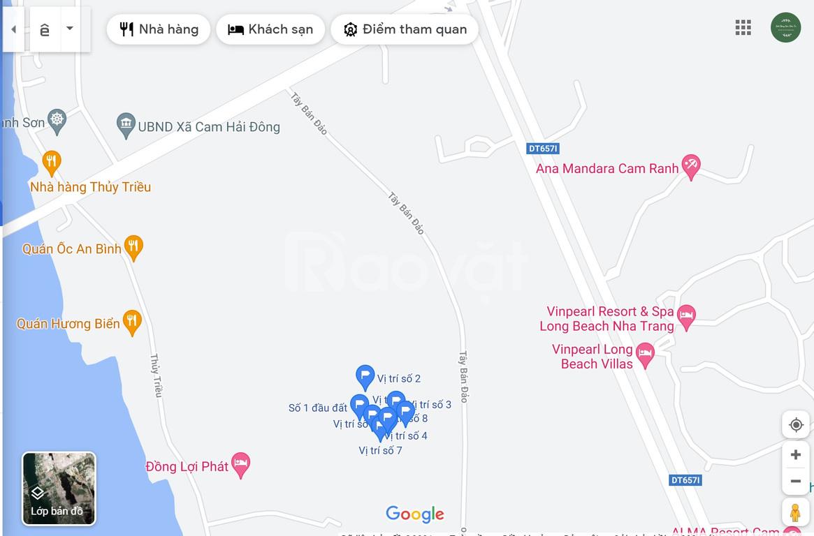 Bán đất Cam Hải Đông đối diện VinPearl & Alma