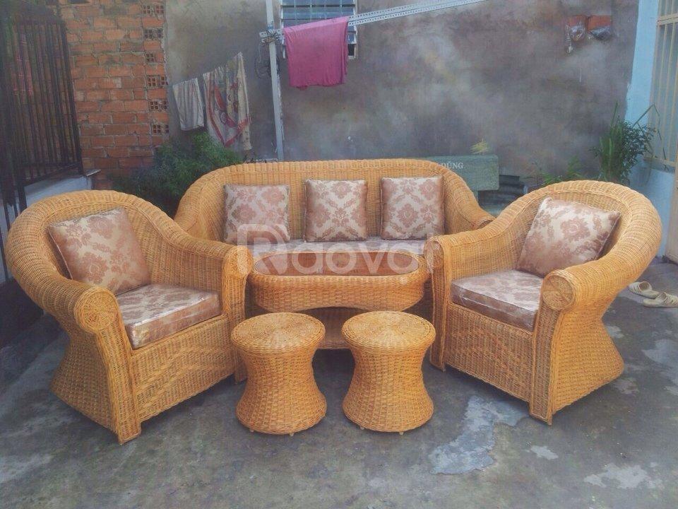 Bộ sofa mây tre đan phòng khách