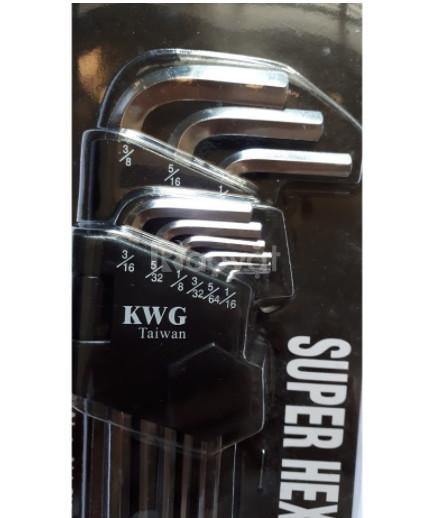 Bộ lục giác bi hệ inch 9 món Kwg 5120-9Nsp