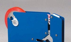 Máy buộc đầu túi thủ công, máy dán băng keo túi