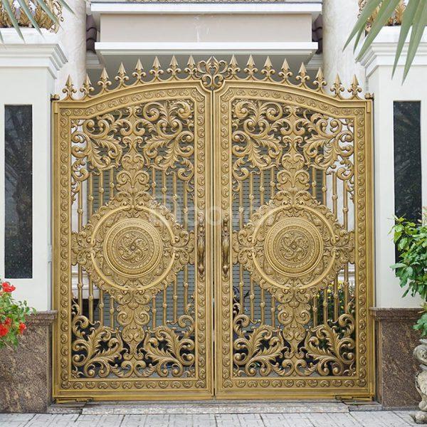 Địa chỉ làm cửa cổng hợp kim nhôm đúc đẹp