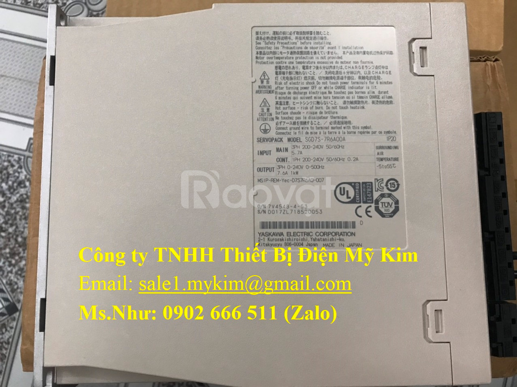 Servo Drive Yaskawa SGD7S-7R6A00A chính hãng thiết bị điện Mỹ Kim