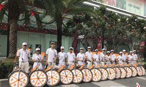 Cho thuê xe đạp chạy roadshow tháng 8/2021