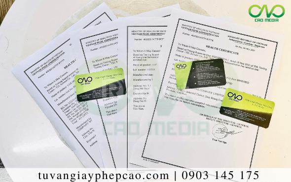 Điều kiện để dừa sấy xin giấy chứng nhận y tế