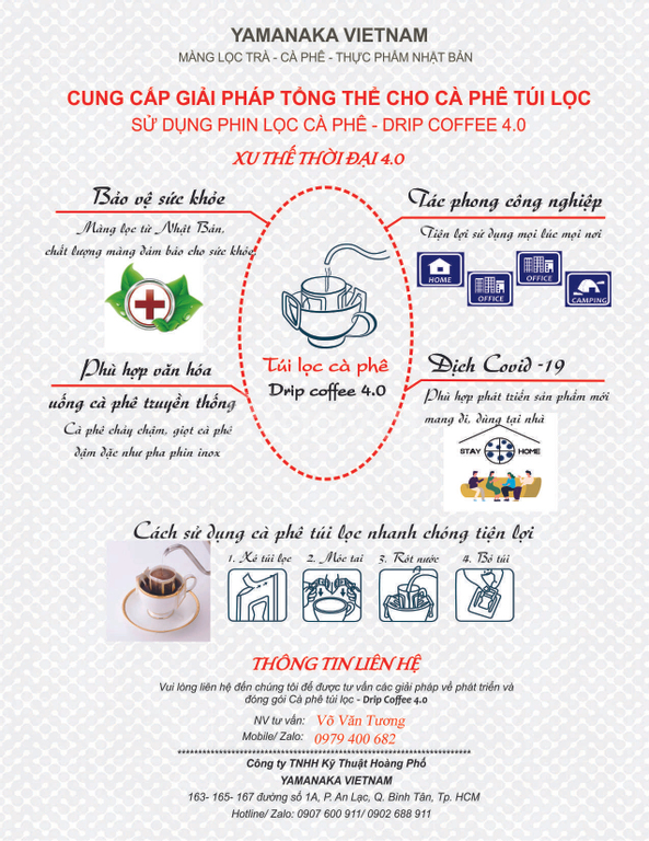 Cung cấp phin giấy, túi lọc cà phê từ Nhật Bản