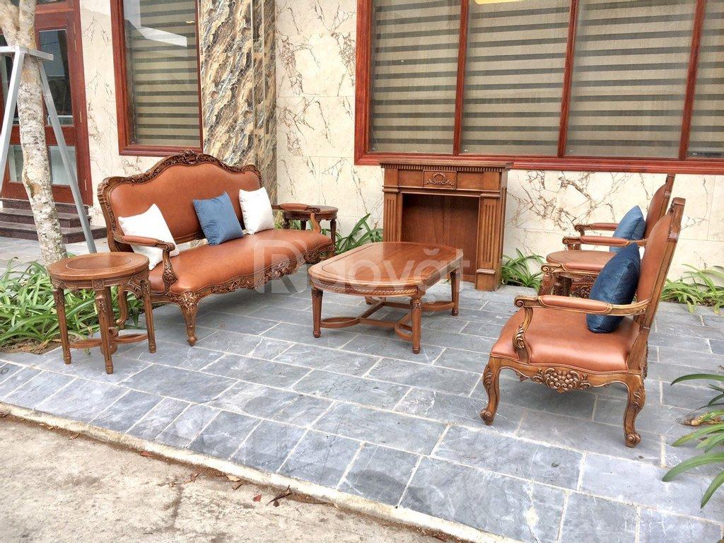 Bộ Sofa tân cổ điển mang vẻ đẹp nhẹ nhàng thanh lịch