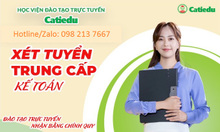 Học viện đào tạo trực tuyến Catiedu xét tuyển trung cấp kế toán