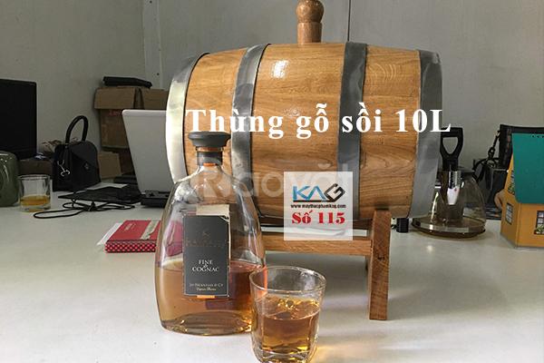 Thùng gỗ sồi ủ rượu trắng, rượu vang, rượu trái cây