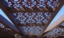 Thiết kế hoa văn mái đón, mái hiên sắt CNC đẹp cho sân vườn