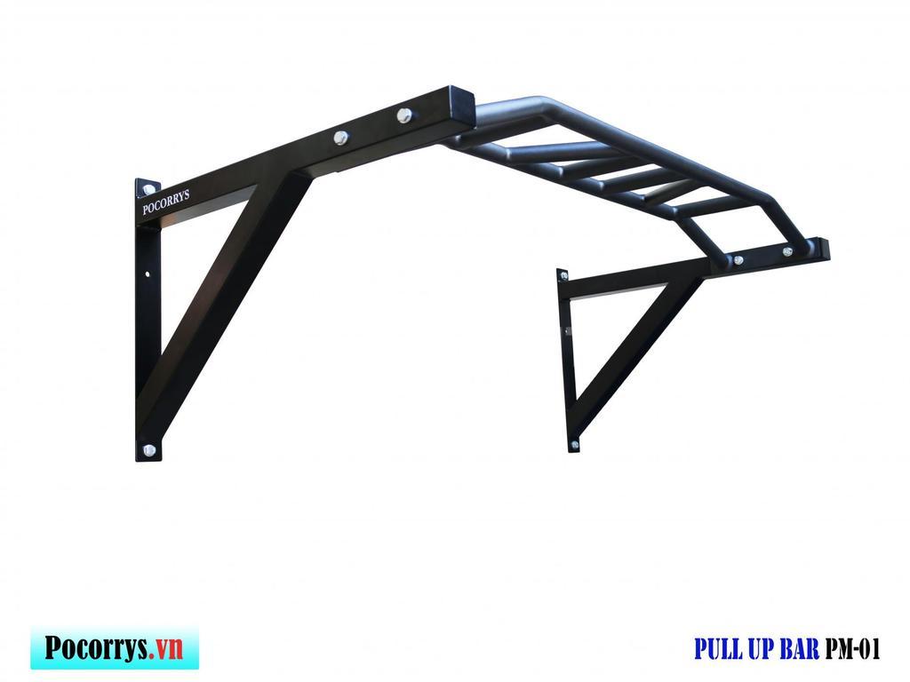 Xà đa thanh uốn gắn tường Pull up bar Pocorrys PM-01