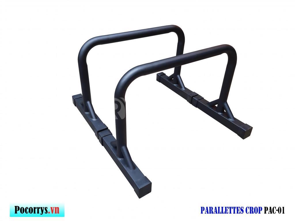 Parallettes Crop full black cao 45cm xà kép mini Pocorrys PAC-01