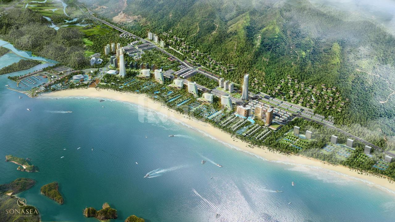 Shoptel 6 tầng mặt biển Vân Đồn sở hữu lâu dài q.mô 358ha