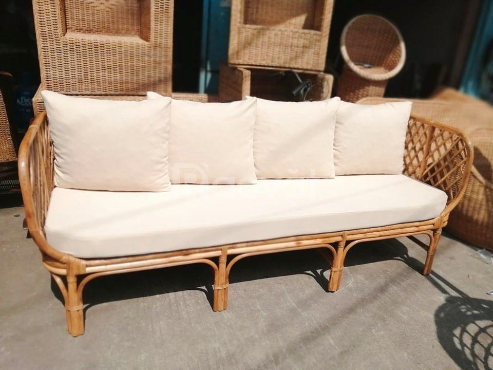Ghế băng dài sofa mây tre đan Mây Xinh