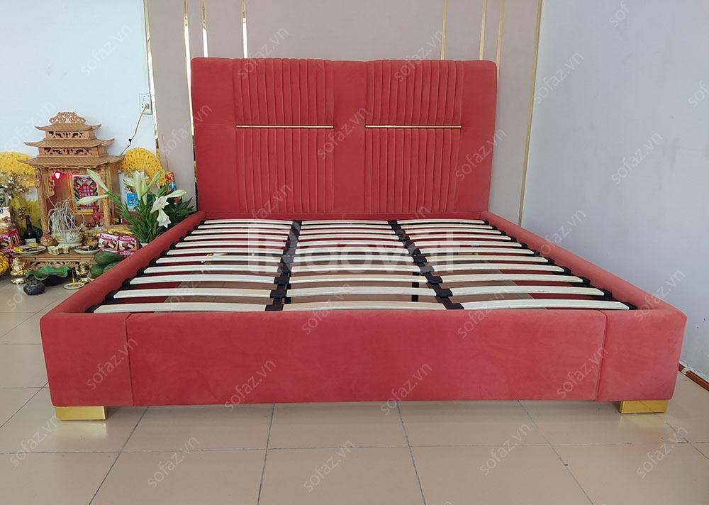 Giường ngủ bọc nỉ, giát giường nhập