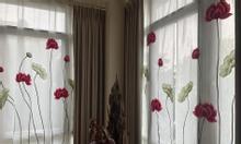 Rèm vải 2 lớp voan thêu họa tiết