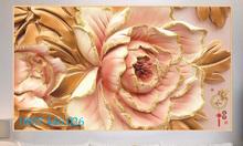 Tranh gạch men hoa 3d ốp tường HP52032