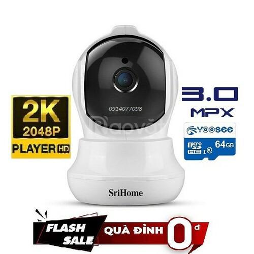 Camera trong nhà srihome 3.0 đi kèm thẻ nhớ 64g