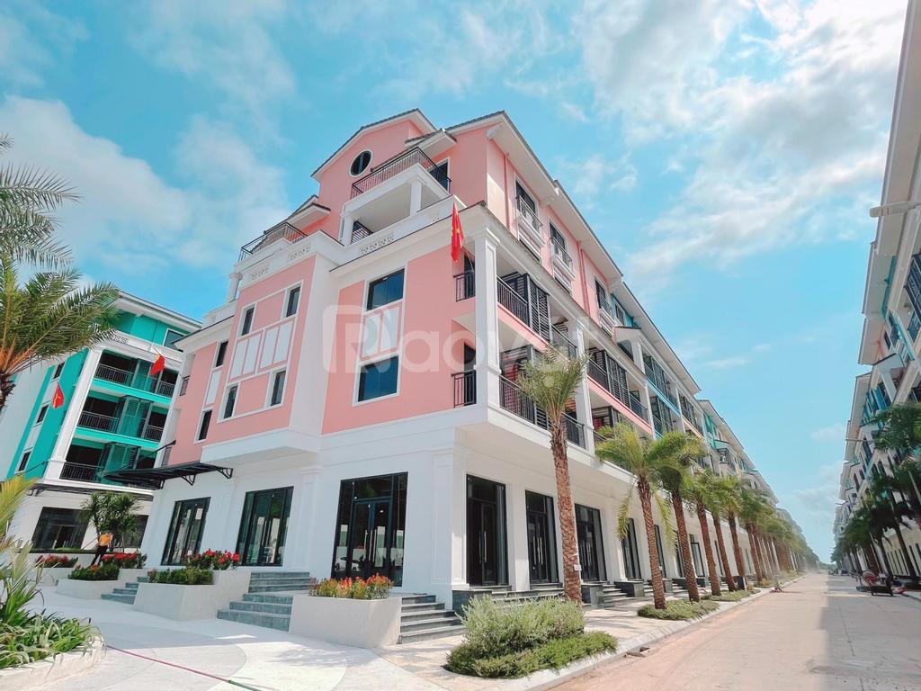 Shophouse Sonasea Vân Đồn 2 mặt tiền xây 6 tầng 95m2 sở hữu lâu dài