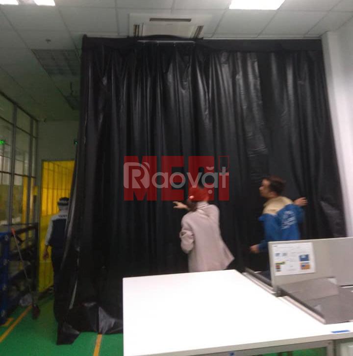 Màn nhựa PVC Line Carbon, rèm nhựa PVC chống tĩnh điện