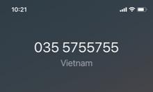 Dư dùng bán sim số đẹp 0355.755.755 chính chủ