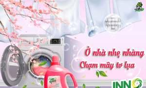Nước giặt Inno Kleen  giúp áo quần thơm tho và mềm mại