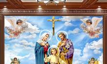 Gạch tranh thiên chúa trang trí ốp tường