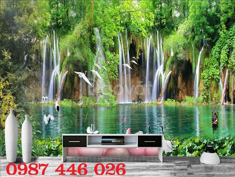 Tranh gạch 3d phòng khách HP1489