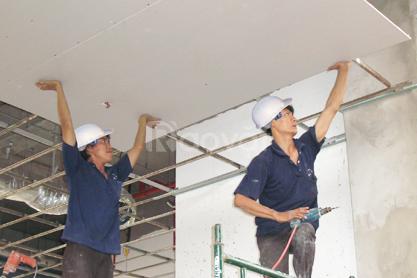 Chuyên thi công trần vách thạch cao sơn nước Cần Thơ