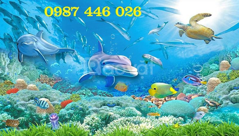 Gạch tranh 3d cá heo HP378