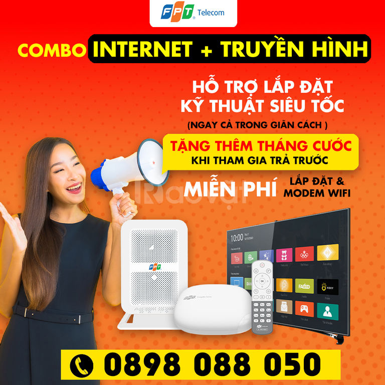 Khuyến mãi Internet và truyền hình FPT tháng 9