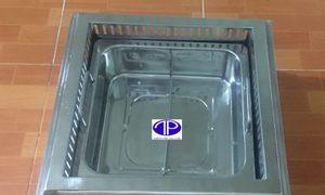 Bếp lẩu 2 ngăn âm bàn giá rẻ tại Phú Thọ