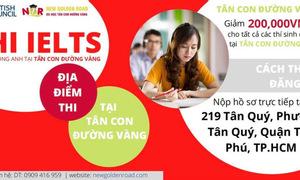Giảm giá thi IELTS tại Tân Con Đường Vàng