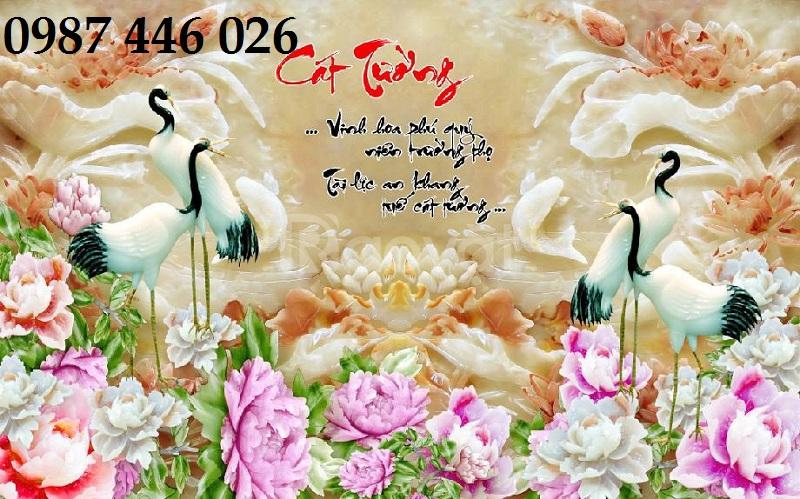 Tranh gạch men chim hạc ngọc HP416369
