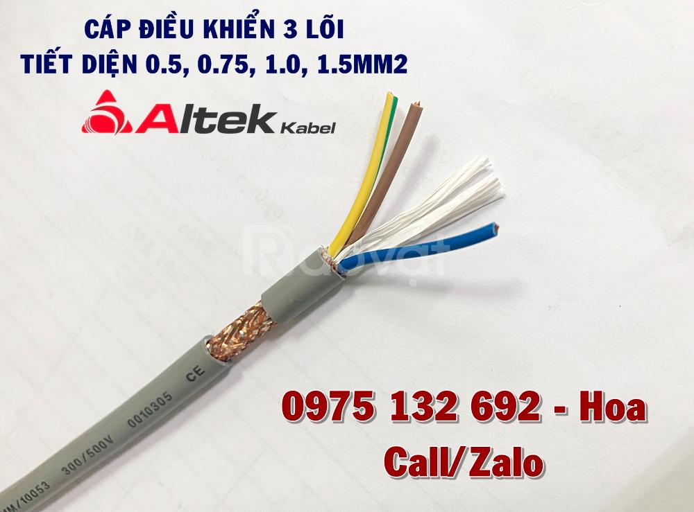 Cáp điều khiển 3x0.5 chống nhiễu, không chống nhiễu Altek Kabel