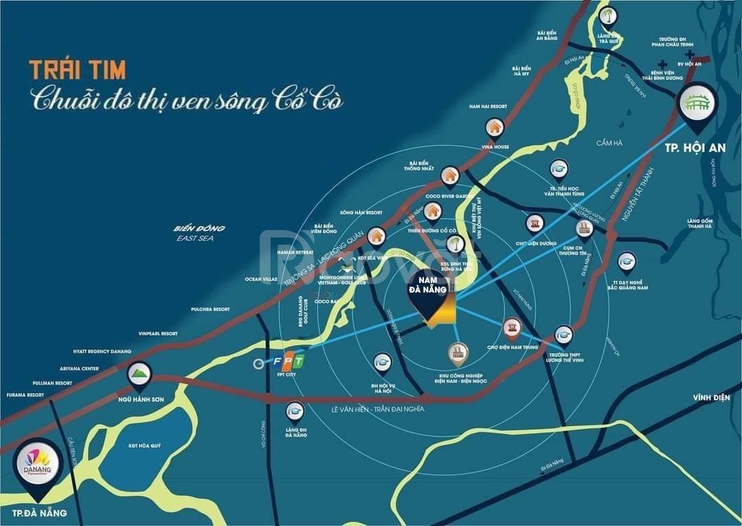 Bán đất nền lk 18 khu đô thị Nam Đà Nẵng giá đầu tư