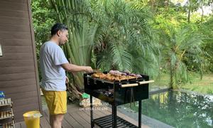 Bếp nướng than hoa không khói CK350