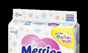Bỉm Merries Nhật Bản cho bé, 90 miếng cho bé