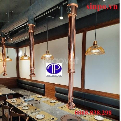 Thiết kế, thi công hệ thống hút khói mùi bếp nướng than hoa nhà hàng