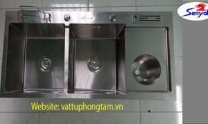 Bồn rửa chén 2 ngăn inox 304, thiết bị vệ sinh SENYAL Việt Nam