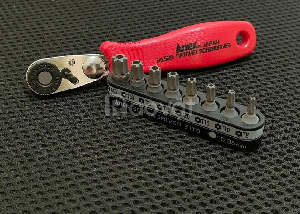 Bộ tay vặn và mũi vít ANEX No.525-9T