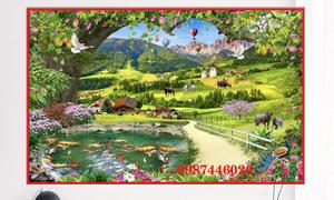 Tranh phong cảnh, gạch tranh, tranh ốp tường HP24566