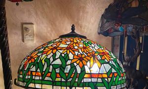 Đèn bàn tiffany kính màu cao cấp